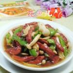 尖椒白玉菇炒牛柳