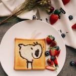卡通吐司早餐
