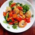 青红椒炒虾