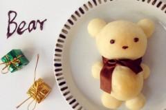 可爱小熊面包