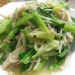 金针菇炒油麦菜