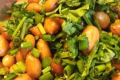 香菜拌花生
