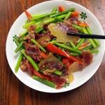蒜苔炒臘肉