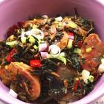 梅干菜蒸腊肠