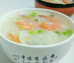蛤蜊明虾粥
