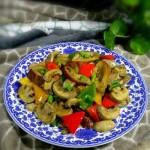 彩椒口蘑炒大肠