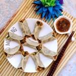 韭菜鸡蛋虾仁锅贴