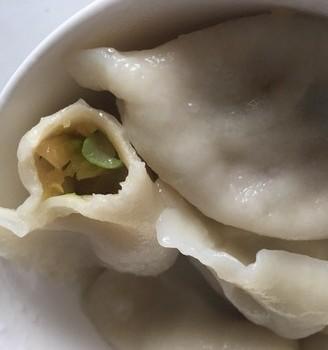 白菜香菇素饺子