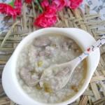 猪肝绿豆粥