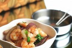 洋葱炒虾仁