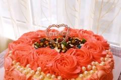 玫瑰花心形蛋糕