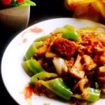 青椒豆腐烩白菜