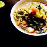 酸菜炝锅菠菜面