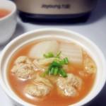 茄汁肉圆汤#九阳#