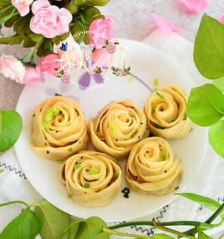 浪漫玫瑰花煎饺