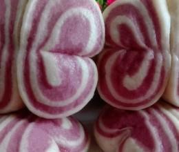 紫薯蝴蝶卷