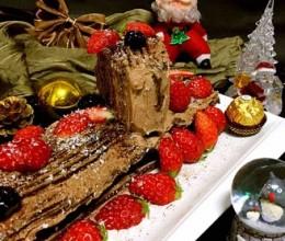 劈柴圣诞蛋糕