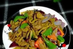 肘子肉炒榨菜