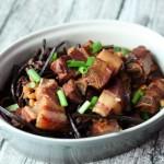 蕨菜黄豆炖肉