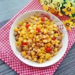 肉丁烩玉米粒