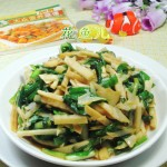 韭菜炒冬笋