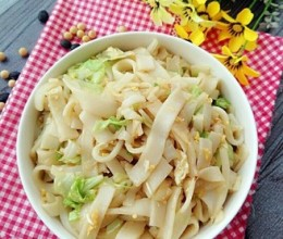 白菜炒米面