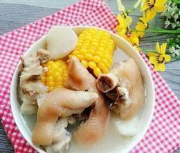 野淮山玉米猪蹄汤