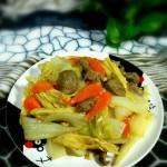 白菜腐竹炒肉