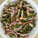 鸡肉蒜苔炒豆干