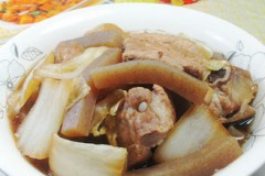 魔芋白菜煮排骨