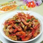 面筋炒河虾