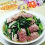 菠菜炒虾蛄