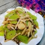 莴笋炒双菇