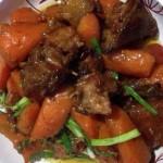 鸭腿焖胡萝卜