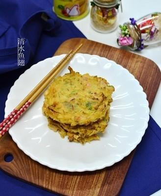 鱿鱼蔬菜饼#金鸡报喜合家乐#