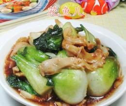 海鲜酱面筋青菜