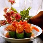 黄瓜鲜虾盅
