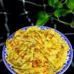 榨菜虾皮鸡蛋饼
