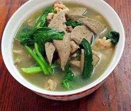 菠菜猪肝瘦肉汤