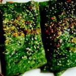 菠菜汁红萝卜丝煎饼