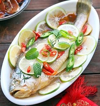泰式青柠檬蒸鱼
