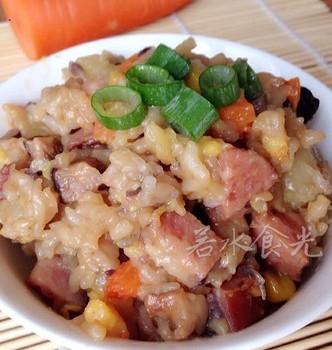 红肠土豆焖饭