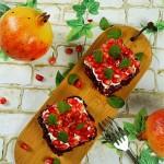 蔓越莓奶酪石榴方塔