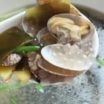 西米花蛤汤