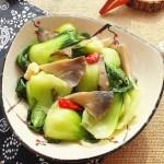 小青菜炒平菇