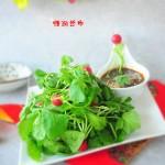橙汁萝卜苗-春季爽口凉菜