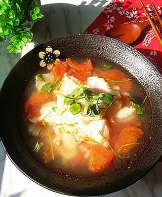 番茄鱼片汤#春季减肥大作战#
