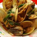 葱姜爆蛤蜊
