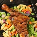 脆皮烤羊腿#美的嵌入式烤箱#