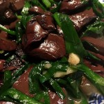 韭菜燒豬血